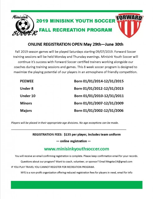 Minisink Youth Soccer, Inc  - Powered by SportsSignUp Play