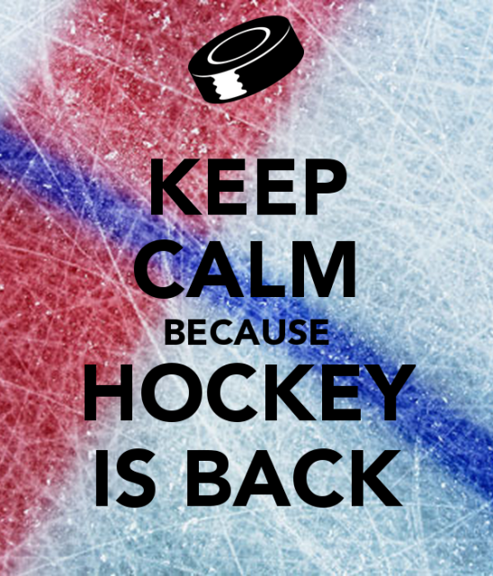 Image result for keep calm hockey is back image