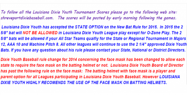Louisiana Dixie Youth Baseball - Powered by SportsSignUp Play